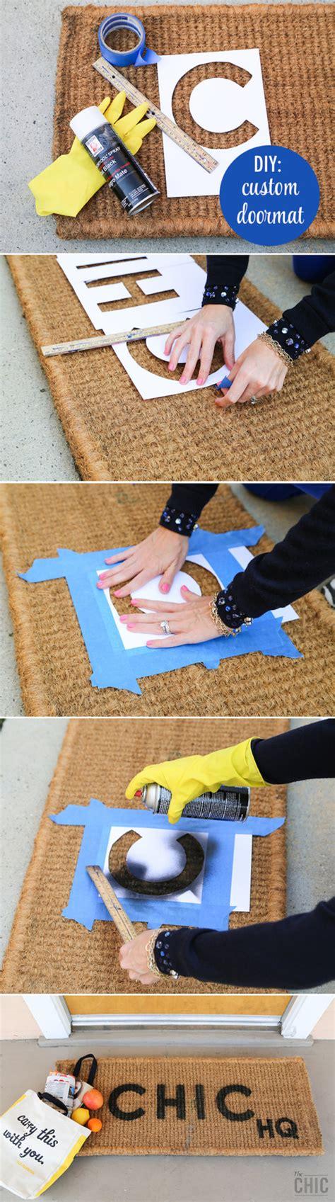 diy custom doormat  chic site