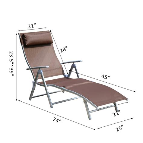 reclining chaise lounge chair outsunny patio reclining chaise lounge chair with cushion