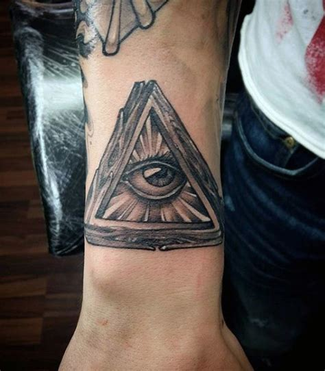 illuminati tattoos for men 100 illuminati tattoos for enlightened design ideas