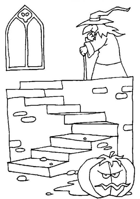haunted castle coloring page witch coloring pages enchanteress in a haunted castle