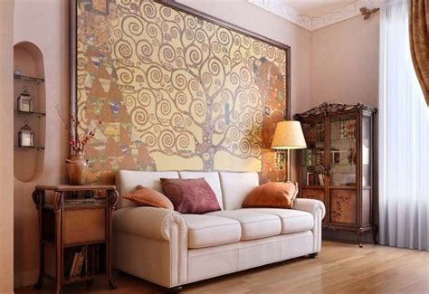 luxury interior design ideas for living room with big painting design bookmark 13524