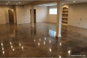 Finished Walkout Basement how to make cement floors more appealing diy projects