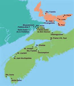 acadia canada map