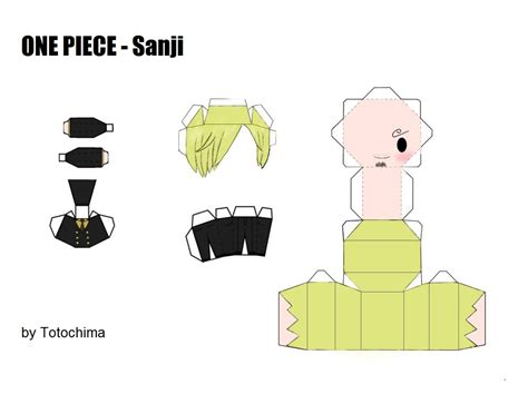 One Papercraft - sanji papercraft by totochima on deviantart