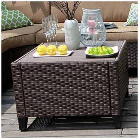 view wilson fisher 174 riviera resin wicker coffee table