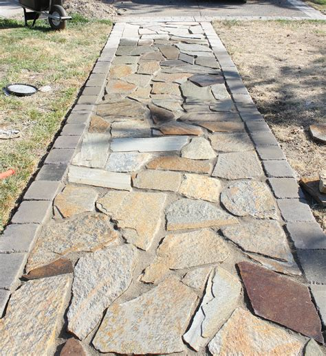 flagstone walkway google search patio garden pinterest