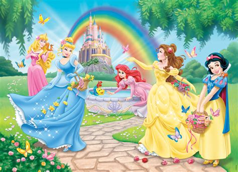 disney garden wallpaper frame puzzle 100 pieces xxl disney princess the