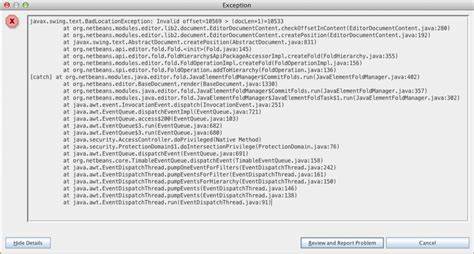 javax swing text java a javax swing text badlocationexception exception