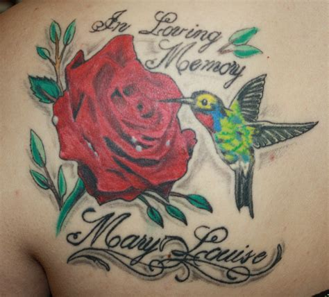 hummingbird with rose tattoos hummingbird and s search tattoos