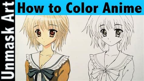 how to color anime with colored pencils part 1