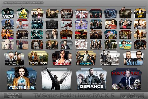 tv shows pack 5 tv series folder icons by atty12 on deviantart