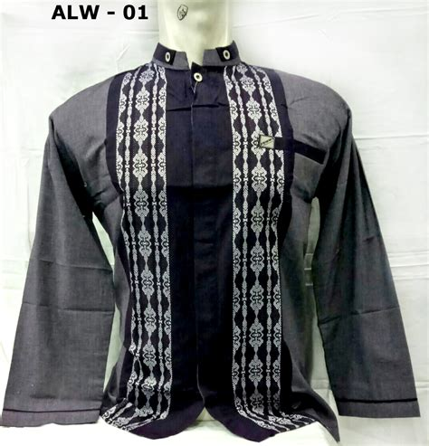 Baju Koko Lengan Panjang Baru gambar baju muslim pria baju koko lengan panjang model