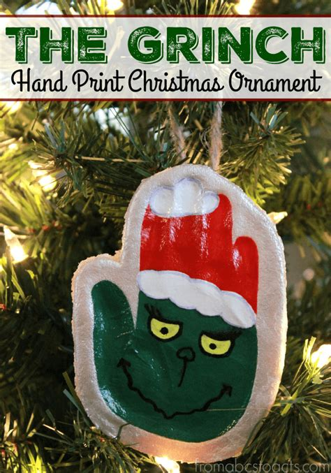 printable grinch ornaments the grinch hand print keepsake ornament from abcs to acts