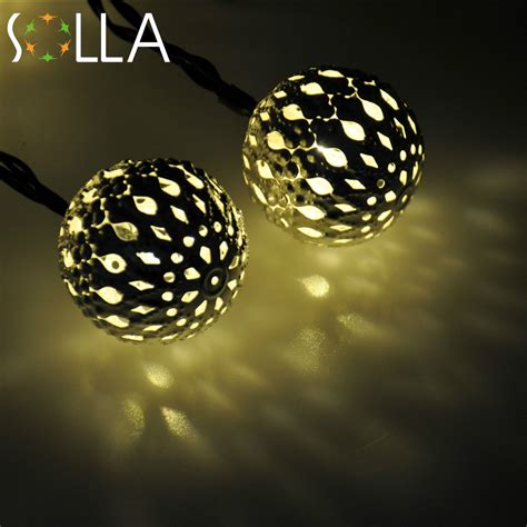 Warm White 10 Balls Set Wholesale Moroccan String Led Cheap White Lights