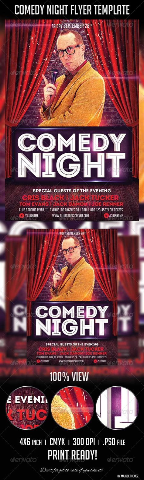 comedy night flyer template fonts flyer template and texts