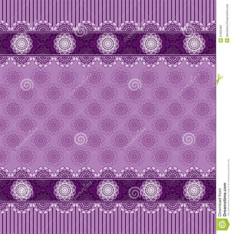 Seamless Purple Background With Lace Border Stock