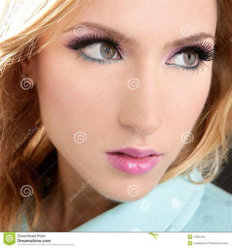 Makeup La makeup macro detail pink lipstick stock photo image 17391794