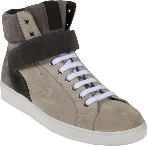 sneakers with velcro straps prada high top velcro sneaker in beige lyst