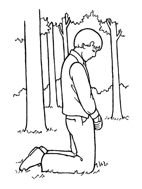 lds coloring pages joseph smith joseph smith praying in the sacred grove