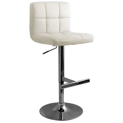 Allegro Bar Stool by Allegro Brushed Bar Stool White Size X 450mm X 540mm