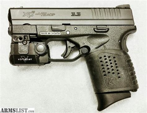 armslist for sale springfield xds 45acp new upgraded