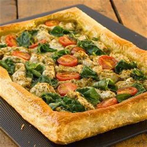 Reader Recipe Salmon With Puff Pastry And Pesto by Chicken Spinach And Pesto Puff Pastry Open Tart Recipe