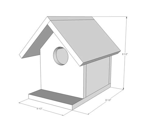 easy bird house plans easy bird house plan new ana white new home plans design