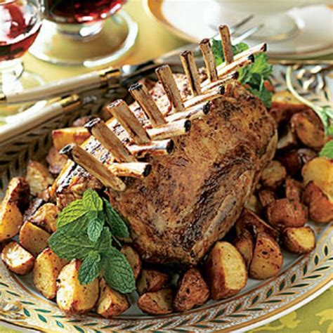 Rack Of With Mint Pesto by Roast Racks Of With New Potatoes And Mint Pesto