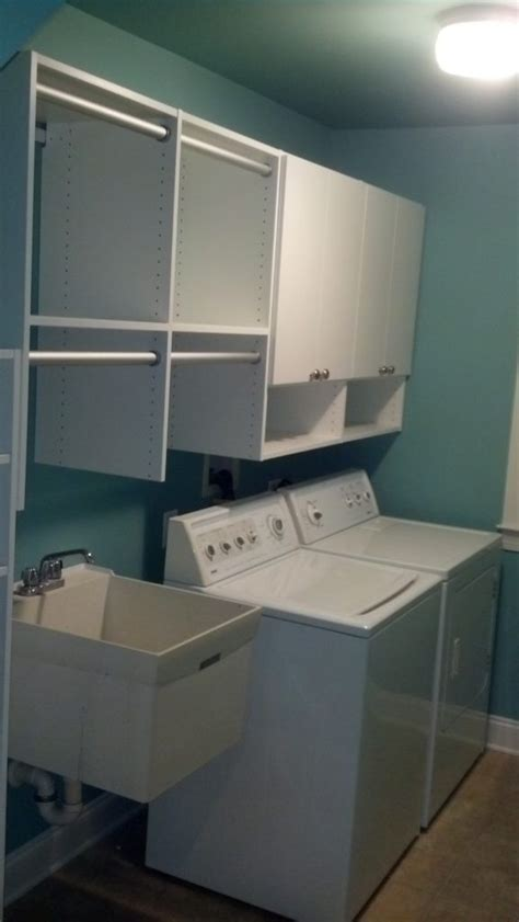 Storage Solutions Laundry Room Laundry Room Storage Custom Installed By Just Closets Of Northern Virginia Just Closets