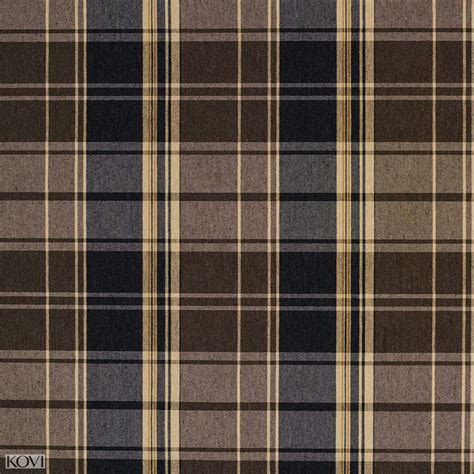 Upholstery Fabric Tartan Black Gray Beige And Brown Plaid Country Damask Upholstery
