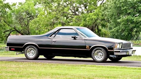 the black el camino chevrolet el camino black 1978