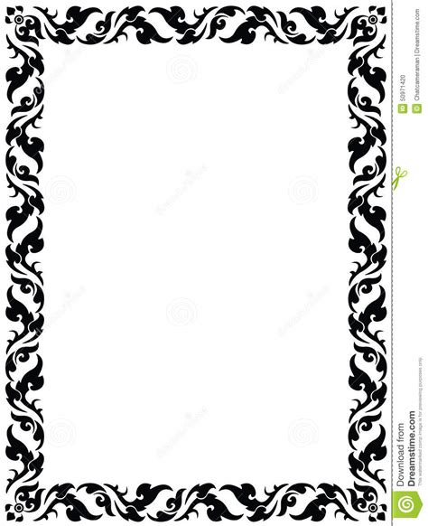 frame pattern images thai pattern frame stock vector illustration of detail