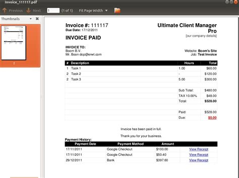 when invoice is generated pdf invoicing by dtbaker codecanyon