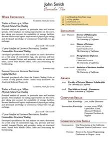 templates 187 two column one page cv