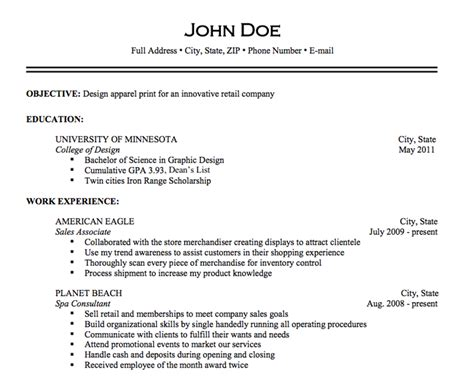 What A Resume Should Look Like by What Should A Resume Look Like