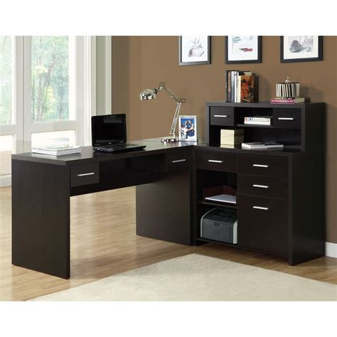 desks for office at home monarch specialties i 7 l shaped home office desk lowe s