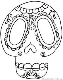 dia de los muertos skull coloring pages gallery for gt dia de los muertos blank skull coloring pages