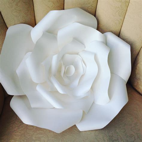 Large Rose Paper Flower Template