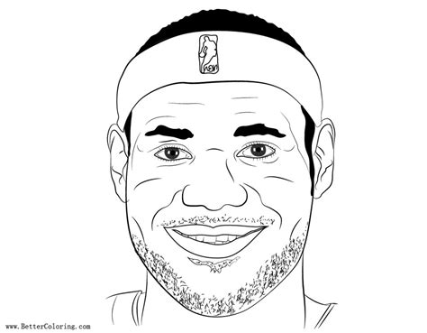 lebron coloring pages smile lebron coloring pages free printable