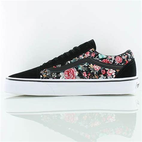 Vans Skool Aloha Flower Motif vans skool chaussures de skate noir fleurs