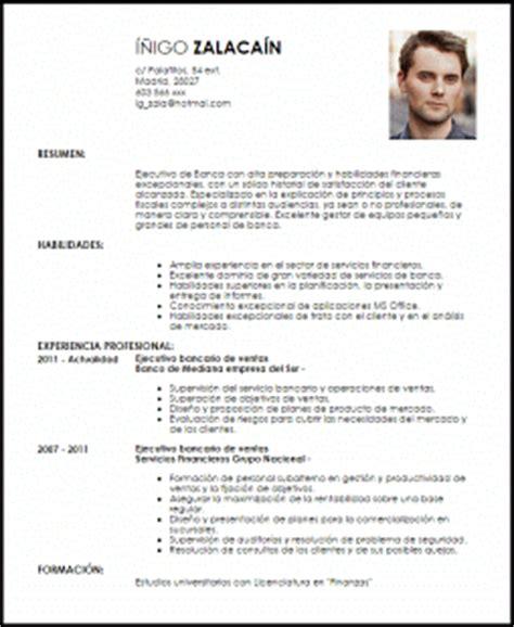 Modelo De Curriculum Vitae Para Trabajo En Banco Modelo Curriculum Vitae Ejecutivo Bancario De Ventas Livecareer