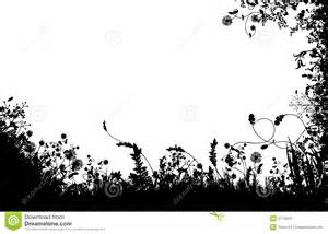 floral fields silhouette stock vector image of plants