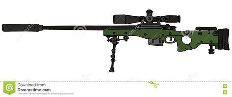 snipe bid green sniper rifle stock vector image of assassination
