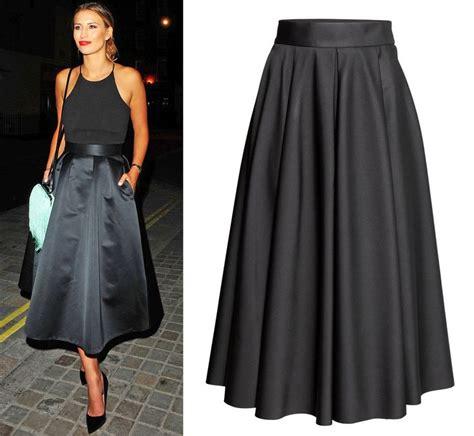 h m trend premium wide satin midi skirt uk 12 38 us 8