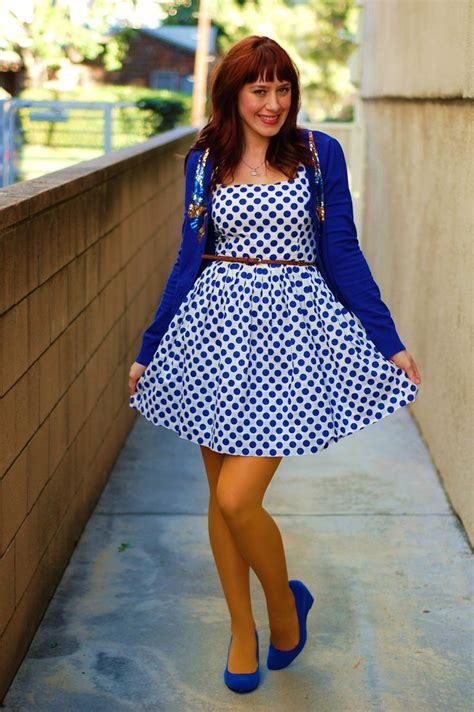 Polkadote Style Blue Orange Mini Dress 73 best tights images on fall winter clothing apparel and colored tights