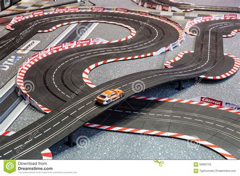 Mainan Truk Cars Truck slot car racing racing track editorial stock photo image