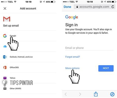 membuat akun google di iphone cara cepat dan mudah membuat gmail di hp iphone