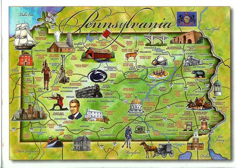 map of penn usa pennsylvania remembering letters and postcards