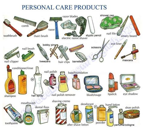 Personal Care 4 vocabulary personal care products language esl efl learn vocabulary and