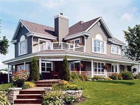wraparound deck home designs with porches houses with wrap around porches